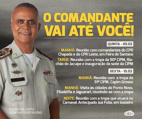 COMANDANTE GERAL DA PM NA ABERTURA DO CARNAVAL DE JUAZEIRO