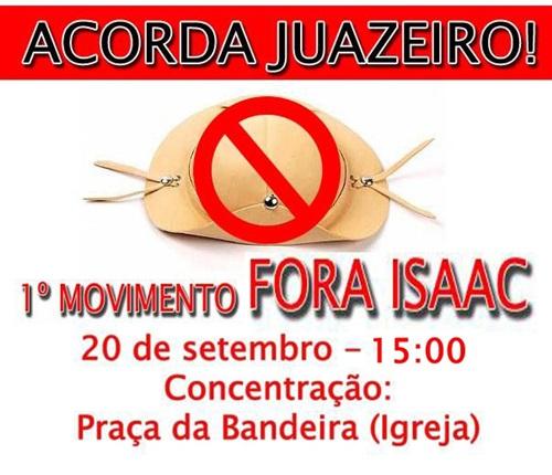 """""""FORA ISSAC""""  ESTÁ NAS RUAS DE JUAZEIRO"""