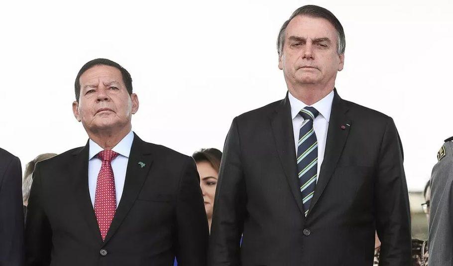 BOLSONARO CADA VEZ MAIS SE DISTANCIANDO DO VICE MOURÃO