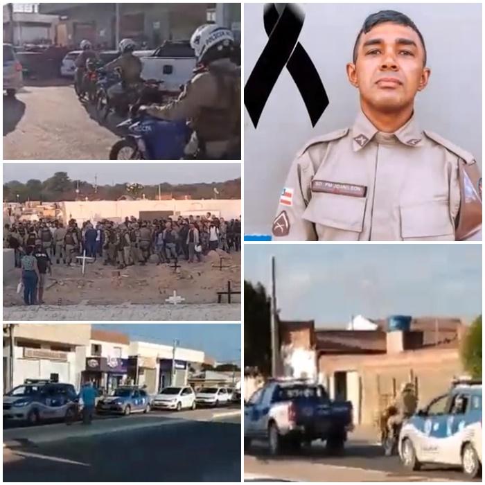 COMOÇÃO NO SEPULTAMENTO DO PM DA BAHIA MORTO PELA POLÍCIA CIVIL DE PERNAMBUCO
